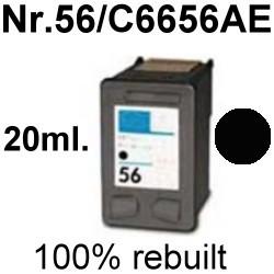 Drucker-Patrone rebuilt HP (NO.56/C6656AE) Black HP OfficeJet-4100/4105/4110/4115/4200/4214/4215/4219/4250/4251/4252/4255/4259/5500/5505/5510/5515/5600/5605/5610/5615/6110/6150/J5520, HP PSC-1100/1110/1200/1205/1210/1215/1217/1219/1300/1310/1312/1315/1317